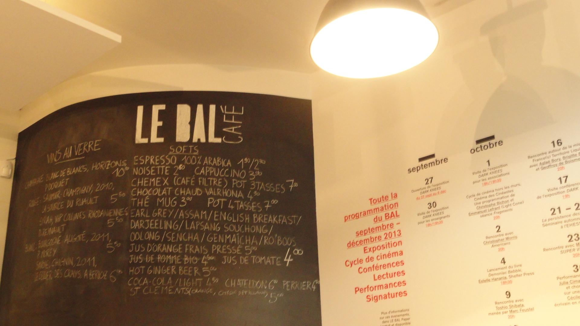 Le BAL Café - Ardoise