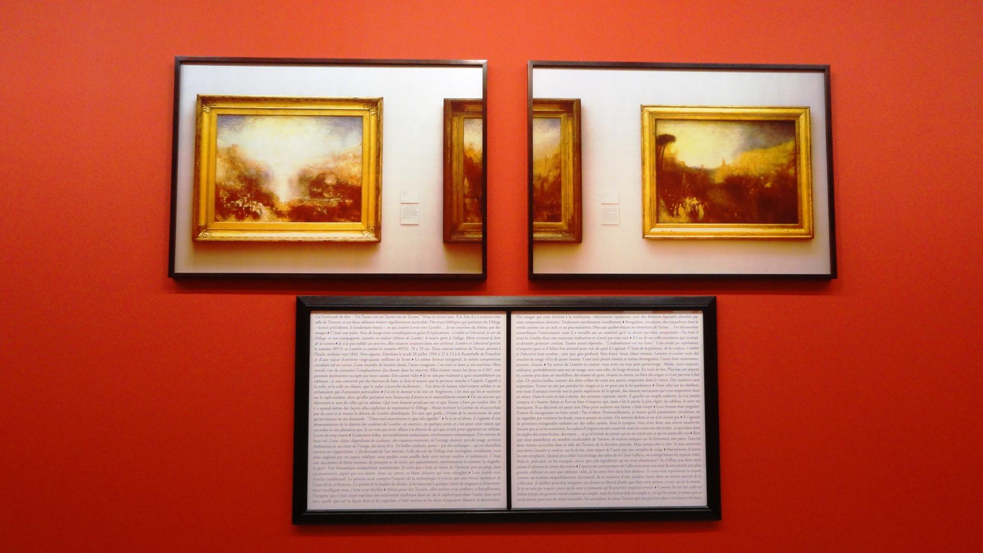"""Galerie Perrotin - Sophie Calle, Dérobés - """"Tableaux dérobés"""""""