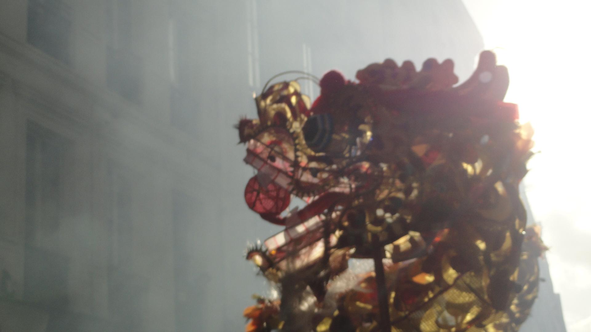 Nouvel an chinois dans le Marais - Rue du Temple - Dragon