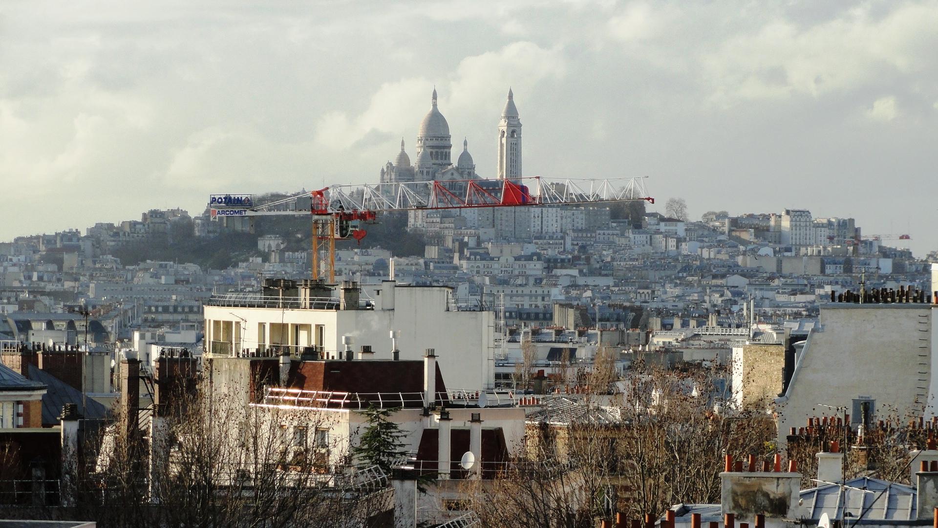 Butte Bergeyre, Paris 19e - Vue sur le Sacré Coeur