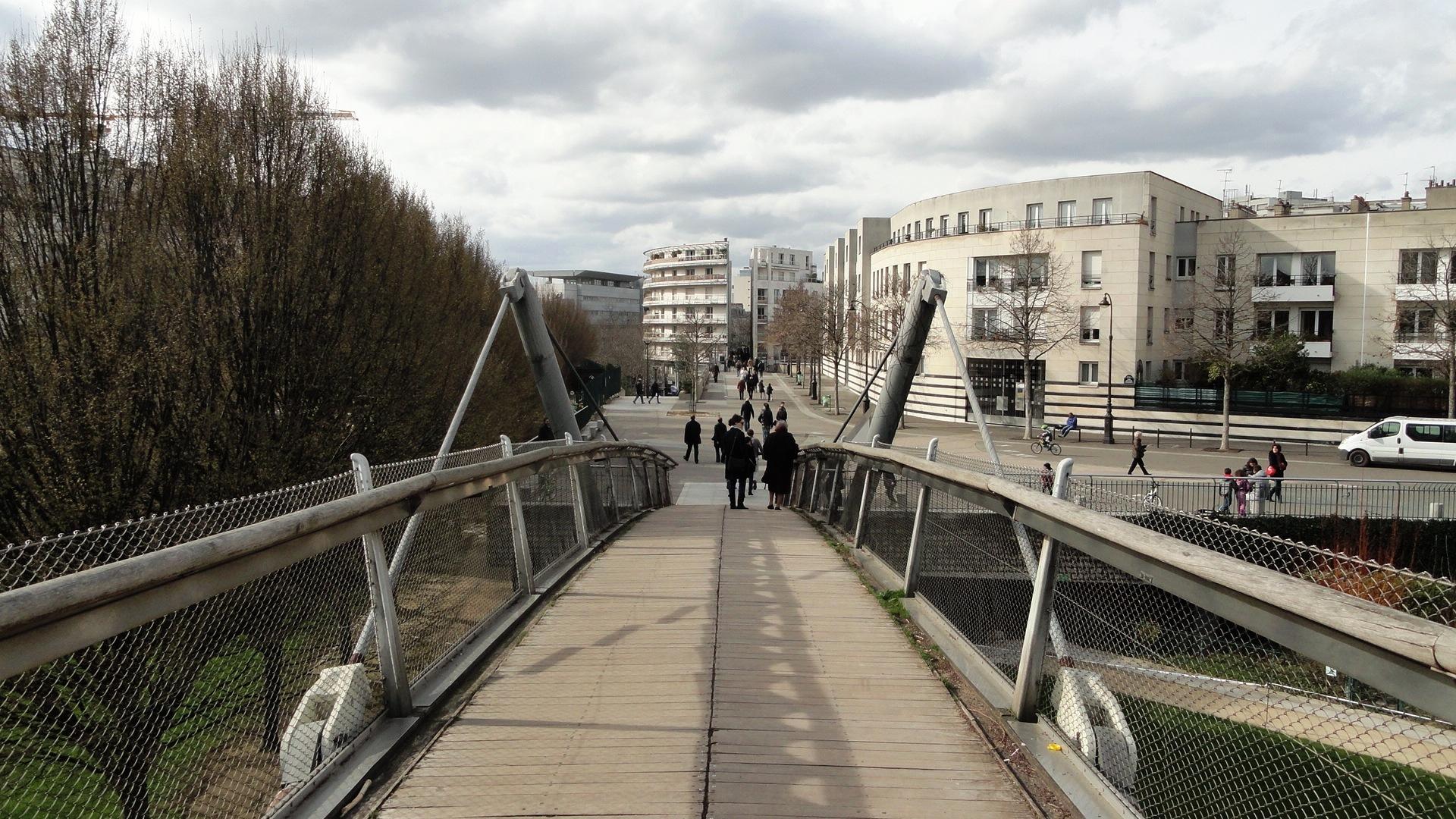 Promenade Plantée, Paris 12e - Passerelle du Jardin de Reuilly