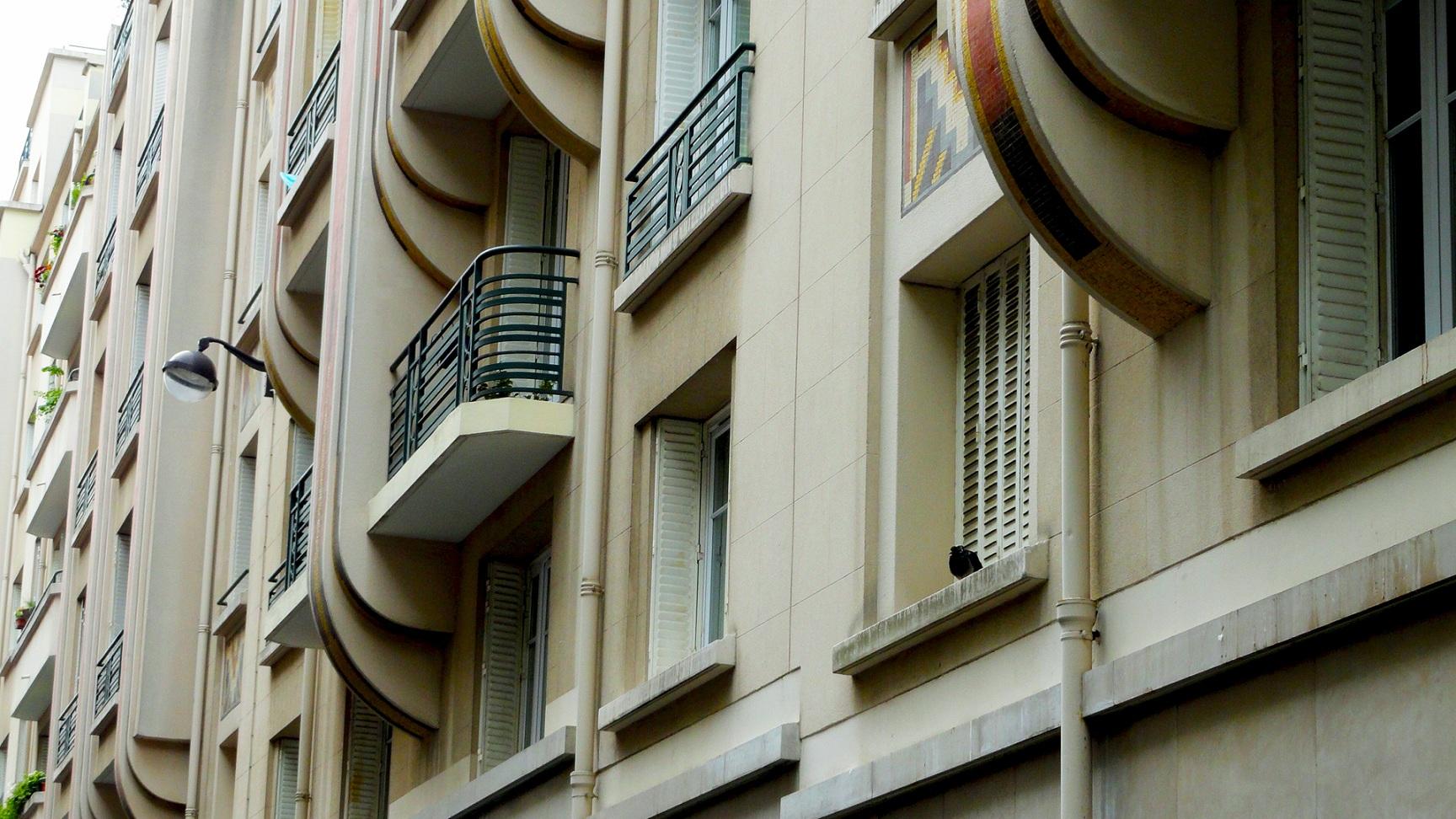 Rue Psichari, Paris 7e - Immeuble Art Déco