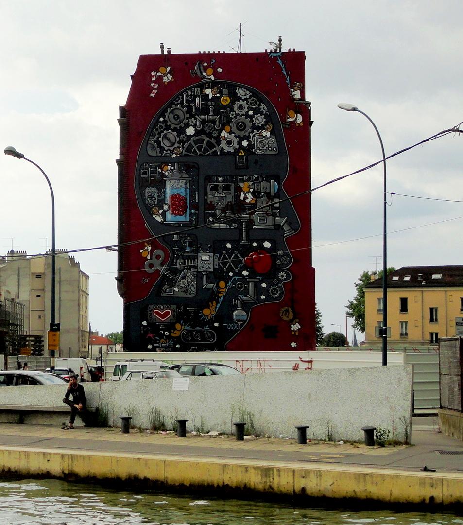 Canal de l'Ourcq - Pantin - Street art - JACE