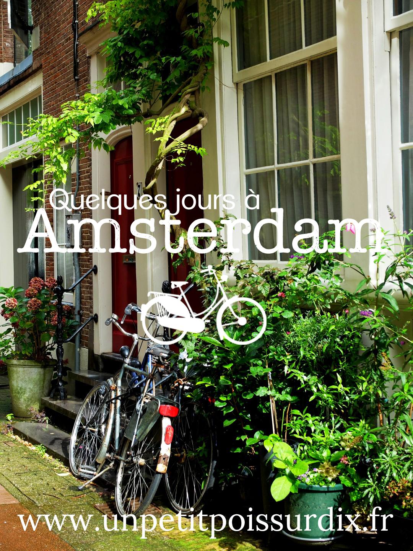 Quelques jours à Amsterdam