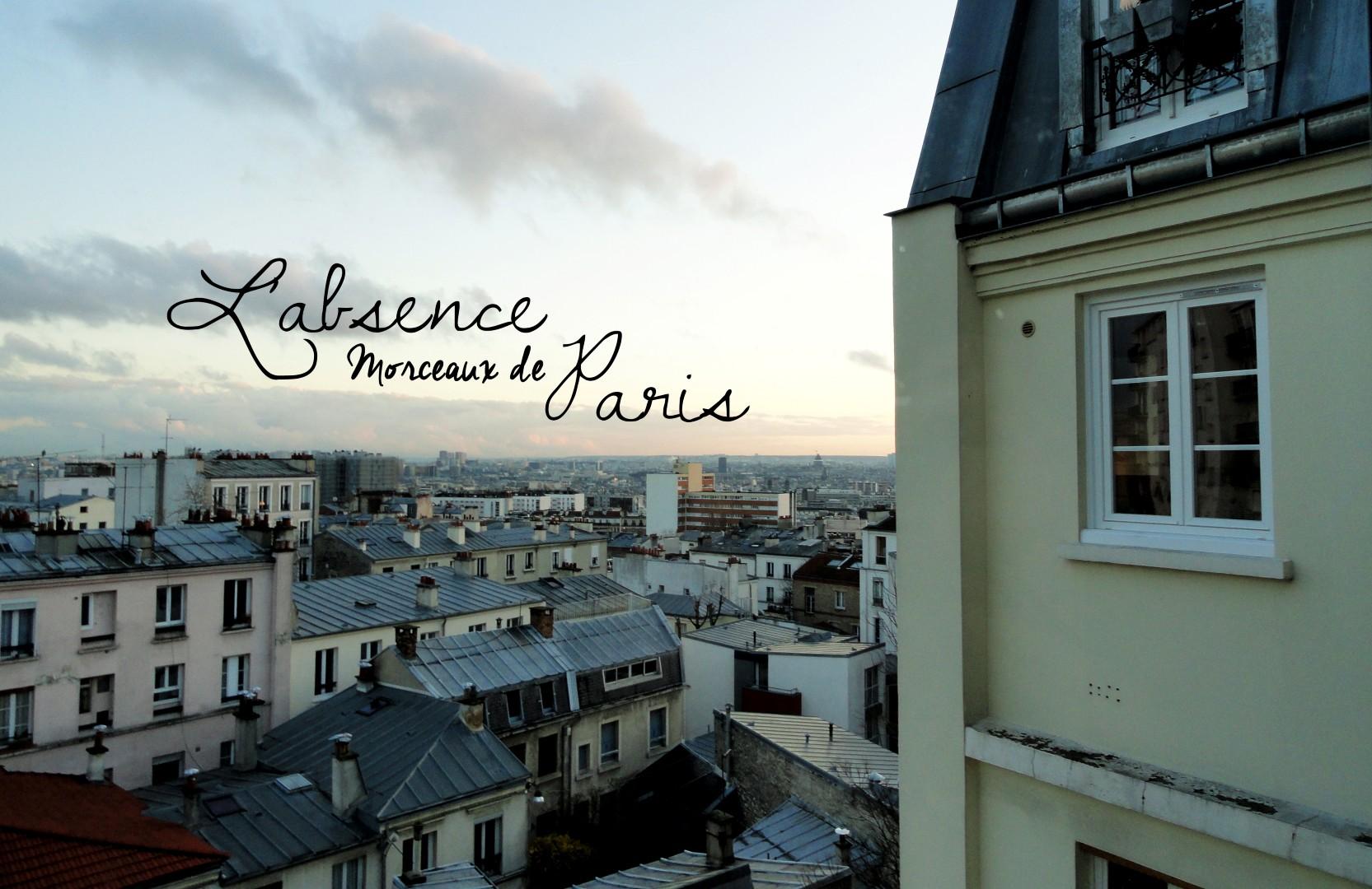 L'absence - Vue de Paris