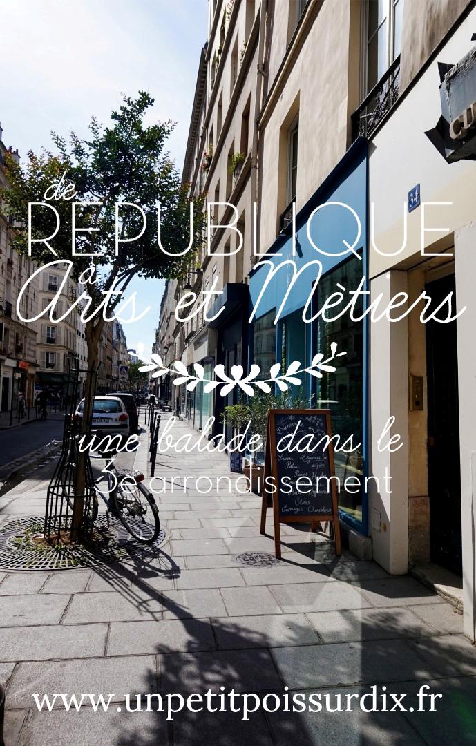 Balade dans le 3e - de République à Arts et Métiers