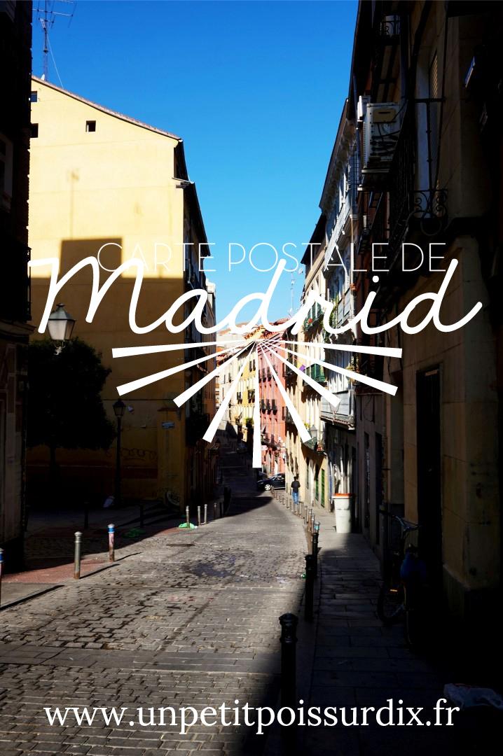 Carte Postale de Madrid