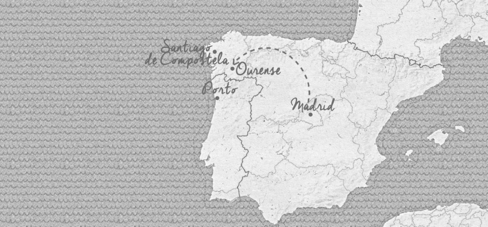 De Madrid à la Galice - Carte