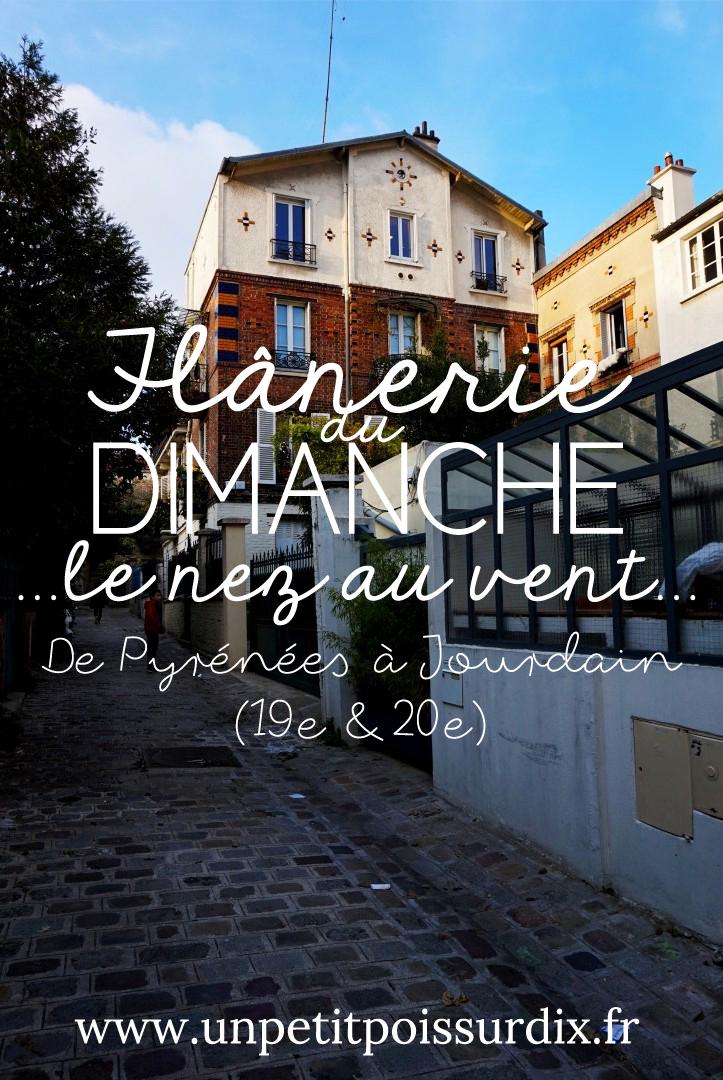 Flânerie du dimanche - De Pyrénées à Jourdain, balade dans les 19e et 20e arrondissements
