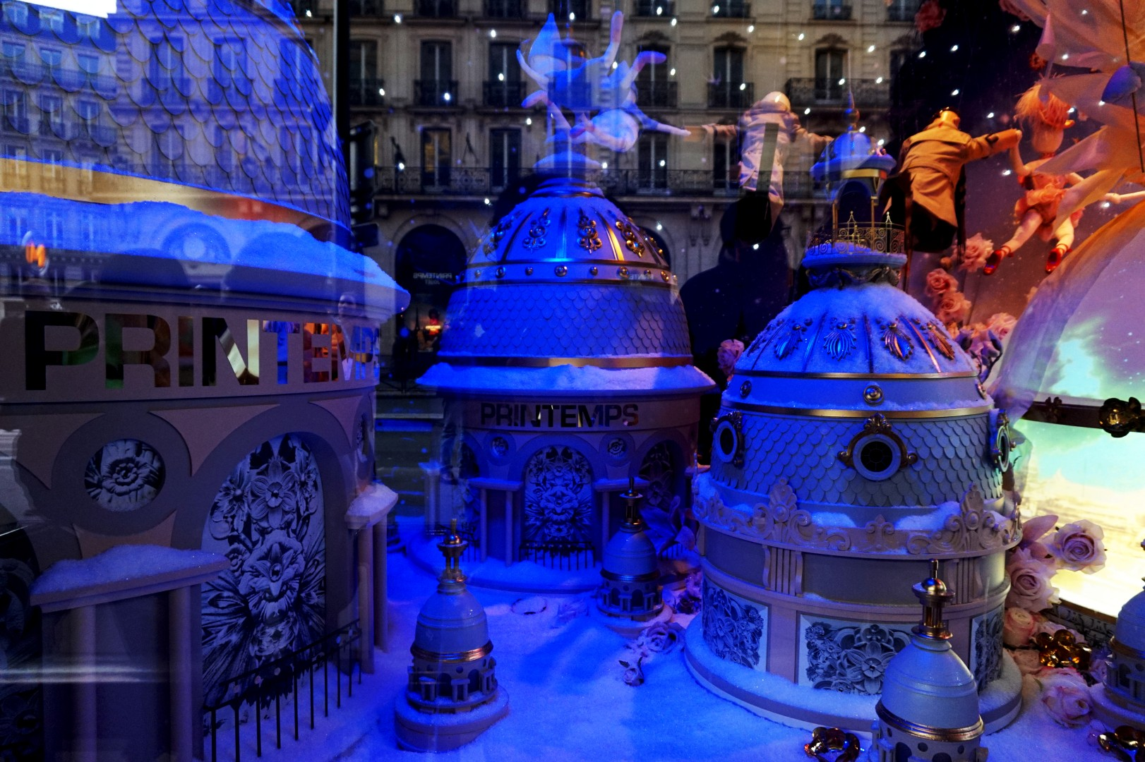 Noël à Paris - Vitrine du Printemps 2015