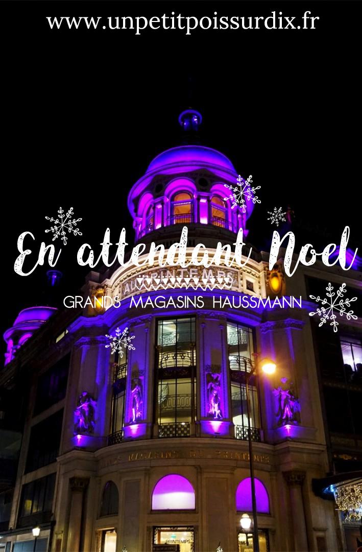 Vitrines et Sapin de Noël des Grands Magasins Haussmann