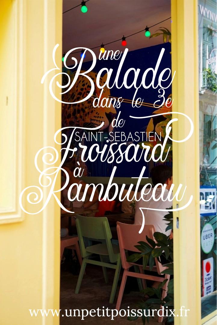 Balade dans le 3e - de Saint Sébastien Froissard à Rambuteau. Paris secret et insolite