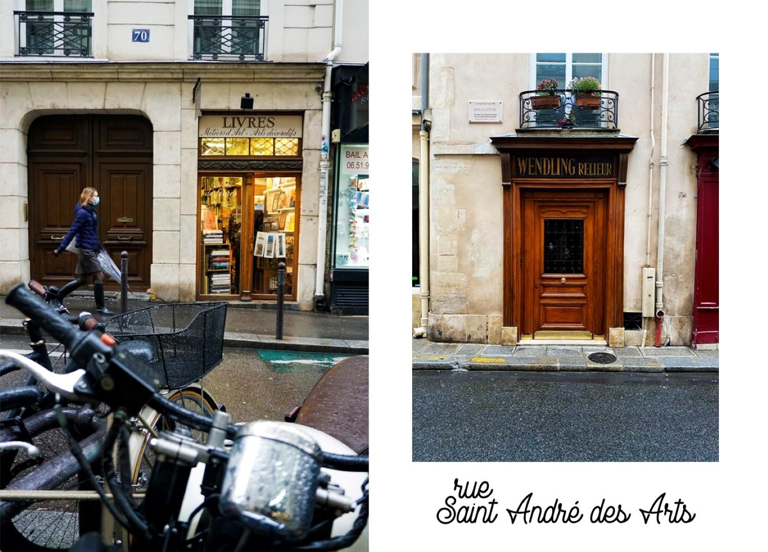 Balade dans les 6e et 7e arrondissements, en attendant Noël - Rue Saint André des Arts