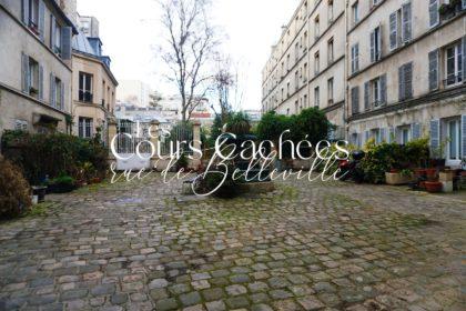 Balade le long de la rue de Belleville - Cours cachées