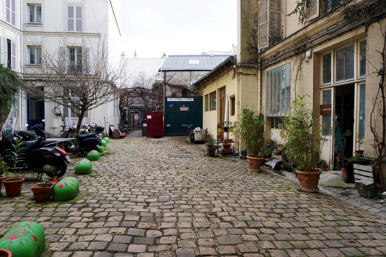 Balade le long de la rue de Belleville - Cours cachées - Rue Ramponeau