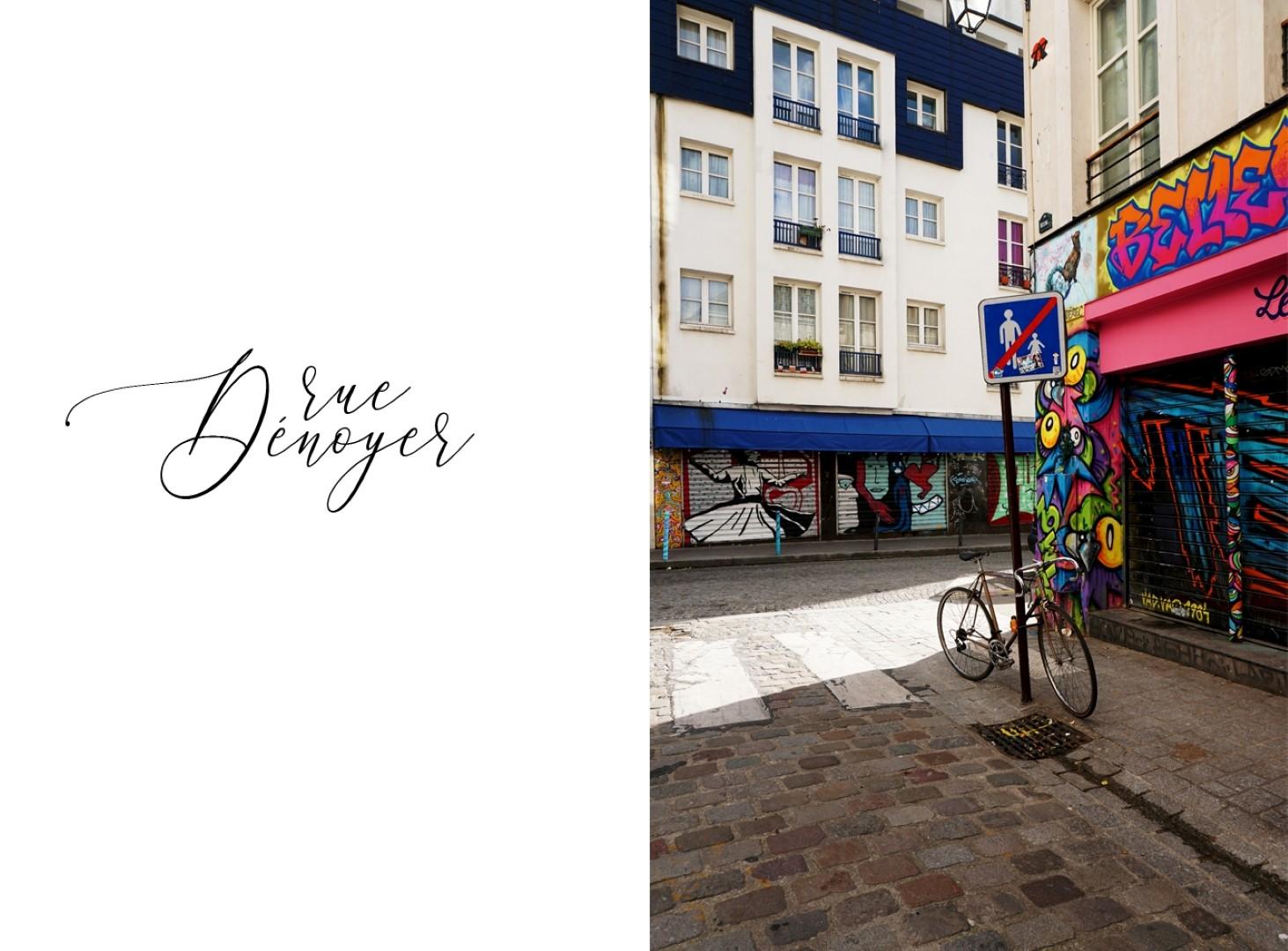Balade le long de la rue de Belleville - Cours cachées - Rue Dénoyez