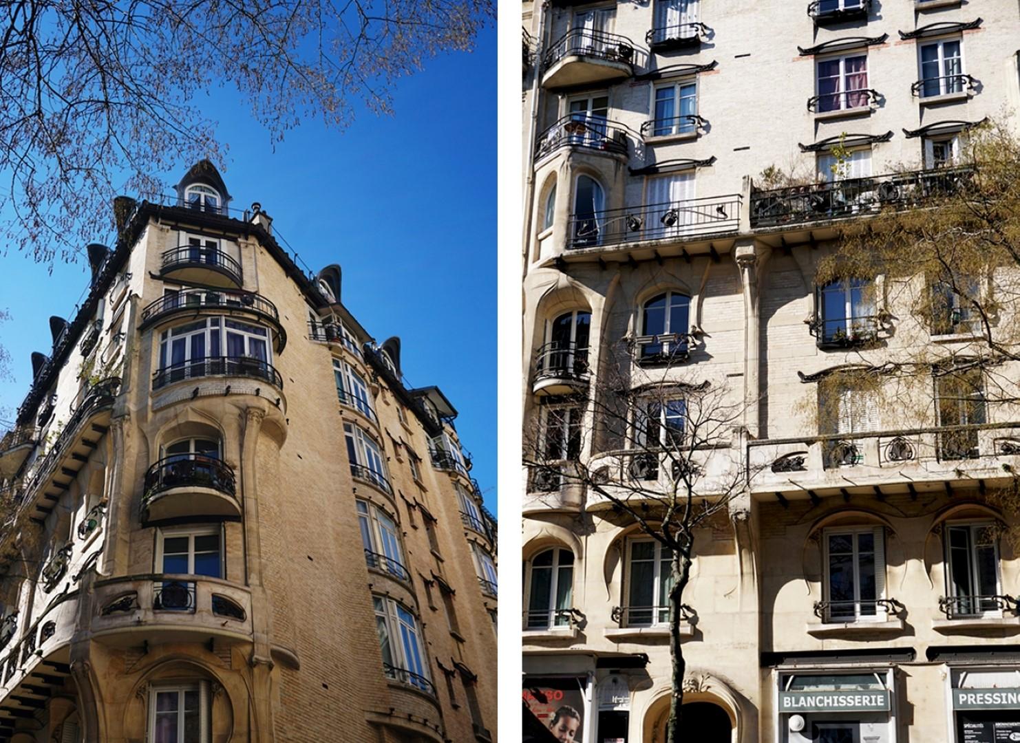 Balade dans le 16e, voies privées et art nouveau - 142 avenue de Versailles, Immeuble Jassedé - Hector Guimard