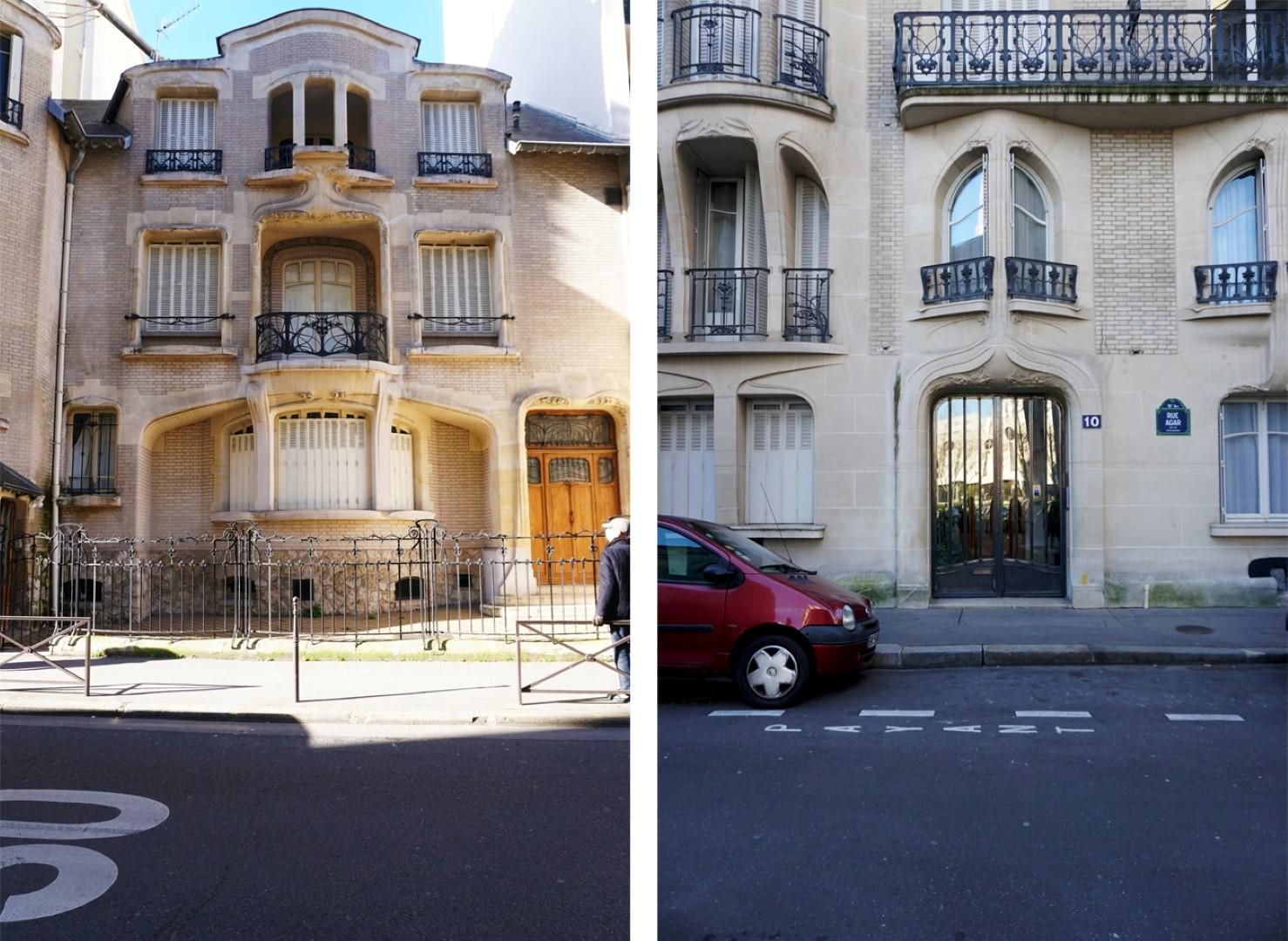Balade dans le 16e, voies cachées et Art Nouveau - rue de la Fontaine, Hector Guimard