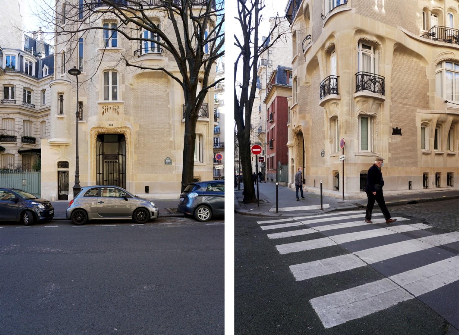 Balade dans le 16e, voies privées et art nouveau - Village d'Auteuil, Hôtel Hector Guimard  - 122 avenue Mozart