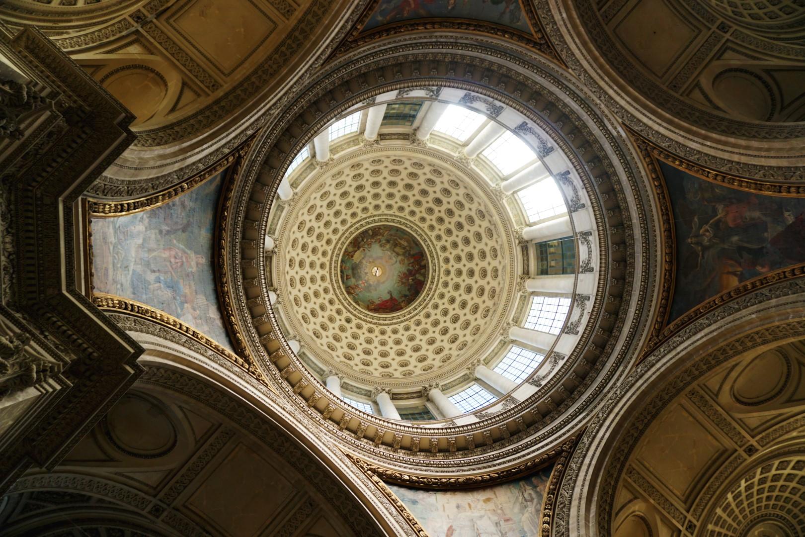 Vue de Paris - Depuis les colonnades du Panthéon, Paris 5e - La coupole