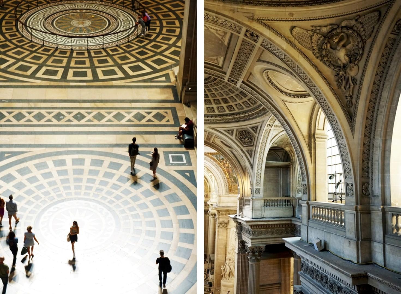 Vue de Paris - Depuis les colonnades du Panthéon, Paris 5e - Vue de l'intérieur